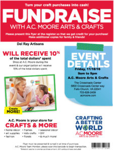 A.C. Moore Fundraising Day for Del Ray Artisans @ A.C. Moore Arts & Crafts | Falls Church | Virginia | United States