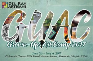 Grown-Ups Art Camp 2017 @ Del Ray Artisans gallery | Alexandria | Virginia | United States
