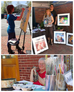 Artists demonstrating in 2016 at VCA Alexandria Animal Hospital