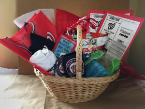 Net the Marlins Washington Nationals Fan Basket from John Elliff
