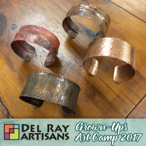 Hammered Copper or Sterling Cuff Bracelet (Cancelled) @ Del Ray Artisans | Alexandria | Virginia | United States
