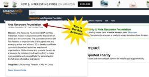 AmazonSmile - choose Arts Resource Foundation